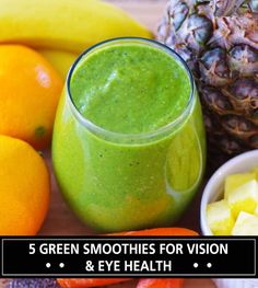Eye Care - I am often asked for green smoothie recipes for eye health. Some people even ask. - I am often asked for green smoothie recipes for eye health. Some people even ask about green smoothies that improve eyesight. In this post, I'll out. Healthy Green Smoothies, Green Smoothie Recipes, Healthy Drinks, Healthy Foods, Morning Smoothies, Healthiest Foods, Healthy Recipes, Simple Recipes, Detox Recipes