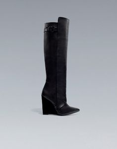 HIGH CUT WEDGE BOOTS - Shoes - Woman - ZARA United States