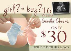 16 Weeks Gender Checks Only $30