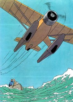 The Adventures of Tintin: The Crab With the Golden Claws by Hergé via mylambsellscondos Toulouse, Illustrations, Illustration Art, Captain Haddock, Herge Tintin, Bd Art, Comic Art, Comic Books, Ligne Claire
