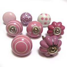 Accessories U0026 Furniture,Elegant Pink Shabby Chic Door Knobs With Amusing  Patern Knob Drawers,