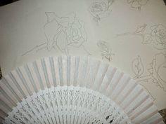 El Rinconcito de Zivi: Abanicos para detalles de comunion pintados a mano...