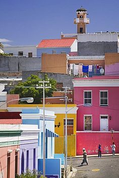 SOUTH AFRICA Western Cape Cape Town Colouful houses in Bo-Kaap the historic…