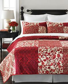 Martha Stewart Collection Paisley Blocks Twin Quilt - Quilts & Bedspreads - Bed & Bath - Macy's