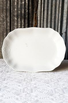 Vintage ironstone platter by OliverandRust on Etsy, $21.00