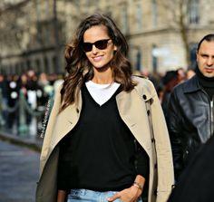 classic chic. #IzabelGoulart #offduty in Paris.