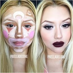 "YouTube user BellaDeLune recently posted a video tutorial on what she refers to as ""clown contouring."" 
