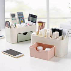 >> Click to Buy << New Arrive Multi-function Women Makeup Brush Cosmeti Organizer Plastic Cosmetic Storage Display Box Container Box With Drawer #Affiliate
