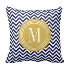 Rest your head on one of Zazzle's decorative & custom throw pillows. Chevron Throw Pillows, Decorative Throw Pillows, Orange Chevron, Red Accents, Blue And White, Navy Blue, My Etsy Shop, Monogram, Pretty