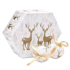 Boxed Set of Reindeer Baubles from the Kaleidoscope advent on FB
