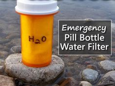 Emergency Pill Bottle Water Filter Kit - make one of these and always be prepared in any survival situation... #survival #shtf #emergencypreparedness #prepper