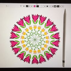 I just got an iPad Pro and an Apple Pencil and I can't believe the happiness! Amazing pieces of hardware... They're a dream to draw with highly recommended. This is  my first drawing on it! Sketching is triple fun now!    #surfacedesign #printdesign #surfaceprint #print #prints #printlove #printandpattern #printpattern #design #graphicdesign #sketch #draw #doodle #sketching #instaart #drawings #artoftheday #instaartist #creative #graphic #sketches #digitalart #myart #artsy #floral…
