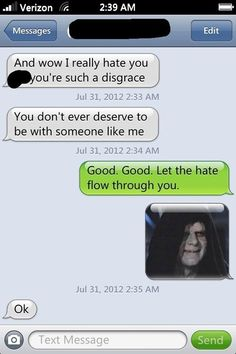 Breaking up, Star Wars style