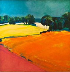 Karin Wagner Coron @ WSG in A2.  Lovely landscapes in oil