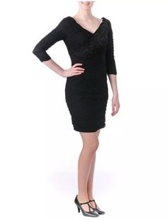SUE WONG Sequined Knee Length Cocktail Dress Size 6  $478.00 NWT #SueWong #Sheath #Cocktail