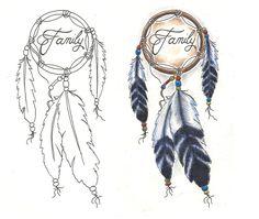 dream catcher tattoo designs | freebies tattoo designs dream catcher family by tattoosavage designs ...