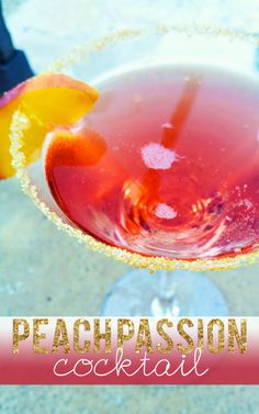 Peach Passion Cocktail Recipe - Pink Heels Pink Truck