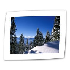 Lake Tahoe in Winter by Kathy Yates Photographic Print on Canvas