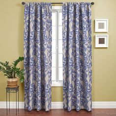 Kunas Curtain In Blue Violet - Patterned | Graphic - Curtains - Rugs | Curtains | Elementarie
