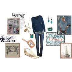 """""""She's off to Paris....."""" by gracierose70 on Polyvore"""