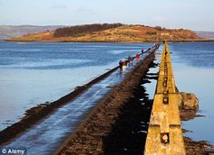 walking out to Cramond Island when the tide is out