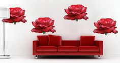 Rose Wall Decals Self Adhesive Peel and Stick Roses por PrimeDecal