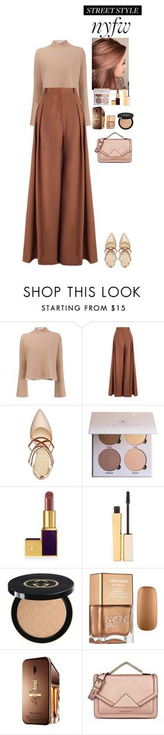 """""""NYFW Street Style: Day Two"""" by eliza-redkina on Polyvore featuring мода, Proenza Schouler, Zimmermann, Nine West, Anastasia Beverly Hills, Stila, Gucci, Paco Rabanne и Karl Lagerfeld"""