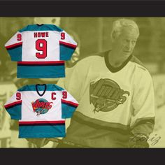 Gordie Howe 9 Detroit Vipers Hockey Jersey Any Size NEW