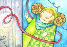 szuflada z rysunkami: Zofka zielona