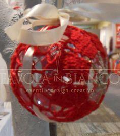Christmas gifts - pallina all'uncinetto da appendere fatta a mano