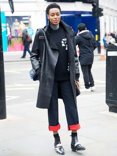 Meet Your New Favorite Street Style Star: Donna Wallace via @WhoWhatWear