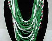 tshirt necklace idea multicoloured with braid