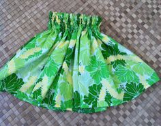 a hula pa'u skirt for a young miss age 45. Hawaiian by SewMeHawaii, $25.00