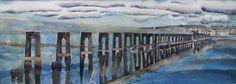 "Saatchi Art Artist Michael Robson; Painting, ""Tay Rail Bridge, Calm Morning"" #art"