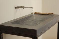 Concrete Alpine Sink - modern - bathroom sinks - miami - Miano Design Co.