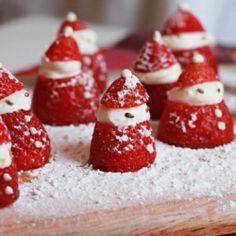 Strawberry and cream Santas!