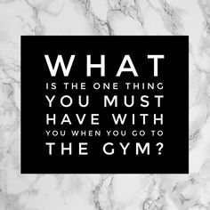 Comment below with that one thing you must have when at the gym.  For me I can get by without having my water bottle or my straps or wraps.  But there is something often missing from my workout when I've left my Beats at home or they've run out of battery.  Remember comment below :)
