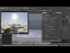 Quick Maya Tutorial - Mountains with clouds (hu) - YouTube
