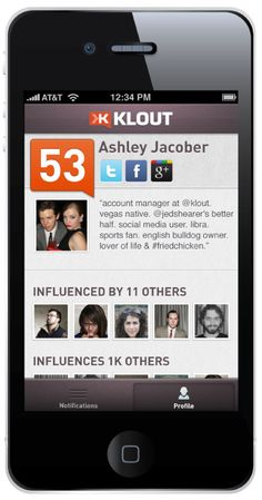 The wait is finally over! The official Klout for iPhone app is here! Now you can take your influence anywhere you go. Download yours today on the Apple iTunes store! http://corp.klout.com/blog/2012/04/your-influence-to-go/