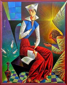 Vibrant Cubist Art Works and Illustrations by Georgy Kurasov Cubist Artists, Cubism Art, Georges Braque, Rene Magritte, Kandinsky, Russian Art, Christian Art, Pablo Picasso, Surreal Art