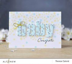Baby Boy Cards Handmade, New Baby Cards, Card Making Kits, Making Ideas, Congratulations Baby, Alphabet Cards, Baby Kind, Kids Cards, Abc Cards