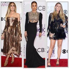 Jennifer Lopez (@jlo) foi o grande destaque do tapete vermelho do #PeoplesChoiceAwards2017. A cantora escolheu um vestido da @Reem_Acra e arrematou o look com joias da @HSternofficial. Quem também fez sucesso foi @BlakeLively com um pretinho nada básico da @ElieSaabworld. E a fashionista @SarahJessicaParker brilhou com o couture da @J_Mendel. Aprovadas? #moda  via MARIE CLAIRE BRASIL MAGAZINE OFFICIAL INSTAGRAM - Celebrity  Fashion  Haute Couture  Advertising  Culture  Beauty  Editorial…