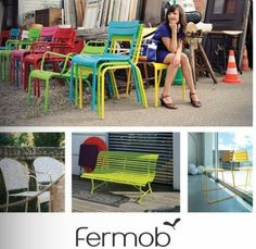 colourful fermob stackable seating