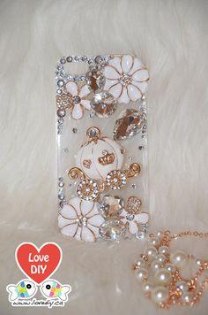 Bling Bling Phone Case DIY Kit Bling iPhone Case by LoveDIYdotca