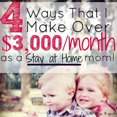 The 4 Side Jobs That Make Me Over 3 000 A Month As A Stay At Home Mom At Home Business Ideascollege