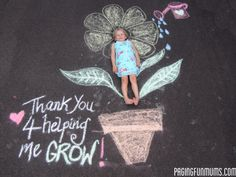 Teacher Appreciation Gift - All you need is some chalk & a camera :). Makes a great Thank you gift!
