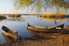 Old boats at the sunset. Old boats at Danube delta , Danube Delta, Lake Painting, Lake Art, Old Boats, Danube River, Paradis, Europe, Lake Life, Fishing Boats