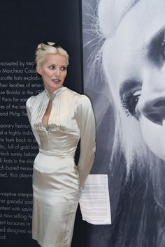 Daphne Guinness unveiling the exhibition of her Collection at Christie's