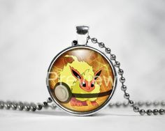 Flareon Pokemon Pendant Eevee evolution Pokemon by PokemonyByAnn