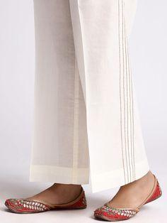 Off White Cotton Gota Palazzo Indian Fashion Dresses, Pakistani Fashion Casual, Pakistani Dresses Casual, Pakistani Dress Design, Pakistani Bridal, Muslim Fashion, Bridal Lehenga, Wedding Lehnga, Stylish Dresses For Girls